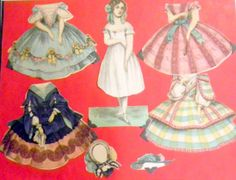 Early McLoughlin Paper Dolls : Lot 140