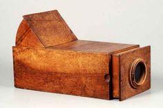 Tecnologia Câmeras Fotográficas Antigas Câmera obscura - 1800