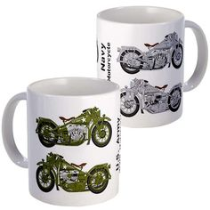 WWII Motorcycle Mugs 2 Pack, $17, now featured on Fab.