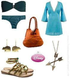 Merida (Brave from Disney) inspired summer outfit