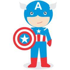Estampa para camiseta Capitão América Kids 002069