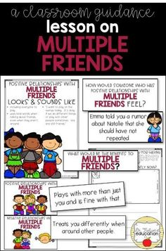 Can someone have more than one friend? This starts and leads the discussion on handling multiple friendships in the elementary school setting.