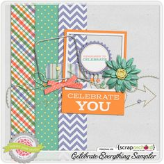 Celebrate Everything tiny kit freebie from Tickled Pink Studio Blog Design, Love Gifts, Free Samples, Digital Scrapbooking, Creations, Clip Art, Kit, Celebrities, Project Life