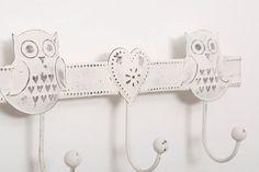 Vintage Style Triple Owl Wall Hook