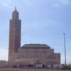 カサブランカの巨大なモスク。 大きさが伝わらない