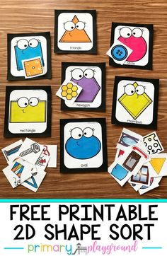 Your little learners will have fun sorting the real-world objects to match their shapes with this free printable shape sort. You are in the right place about Sorting Games, Sorting Activities, Preschool Learning Activities, Free Preschool, Preschool Printables, Kindergarten Math, Preschool Activities, Shape Activities, Preschool Schedule