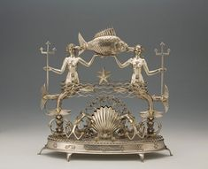 """""""the Four Elements"""", table centerpieces designed by Karl Roth, 'Water' from 1926."""