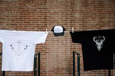 ANCOR // T SHIRT // WHITE BRAINSHOT CAP // B&W REINDEER // T SHIRT // BLACK
