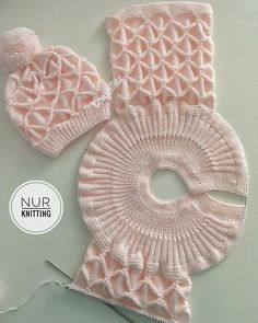 Diy Crafts - knitdress,cocukelbise-Gimme alllllll of the popcorn! Easy Knitting Patterns, Knitting For Kids, Crochet For Kids, Knitting Stitches, Knitting Designs, Baby Patterns, Baby Knitting, Crochet Patterns, Crochet Baby Jacket