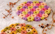 Цветочный коврик от японских мастериц. Схема вязания