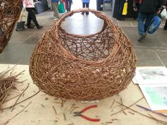 Random weave basket made at the Harrogate Flower Show 2014, dragon willows
