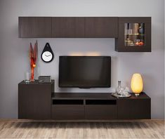 Ideas Storage Cabinet Design Tvs For 2019 Open Plan Kitchen Living Room, Ikea Living Room, Small Living Rooms, Home And Living, Ikea Tv Wall Unit, Bedroom Wall Units, Tv Cabinet Design, Tv Wall Design, Tv Unit Decor