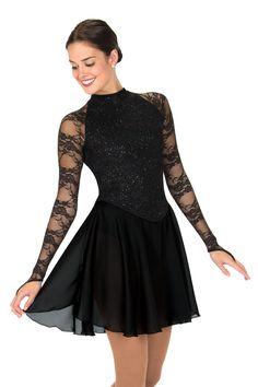 Jerry's figure Skating Dress #124 - Lacy Lady Dance Dress