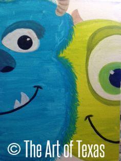 Monster's Inc. painting | The Art of Texas Kids | Midland, Texas