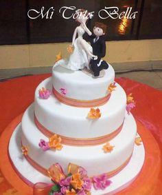 Torta de matrimonio.