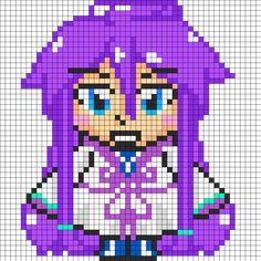Gackpoid Vocaloid perler bead pattern
