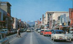 Third Street in Santa Monica in 1950, long before it was made into a pedestrian promenade in November 1965 Santa Monica California, Southern California, Vintage California, California History, California Usa, Usa Street, Third Street, Main Street, Ocean Park