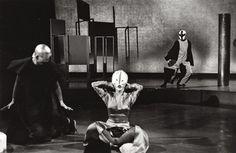 Jikken Kōbō and Takechi Tetsuji – Pierrot Lunaire (tsuki ni tsukareta piero), stage performance, Sankei International Conference Hall, Tokyo, December 5, 1955