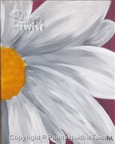 Double Daisy 2 - Frisco, TX Painting Class - Painting with a Twist