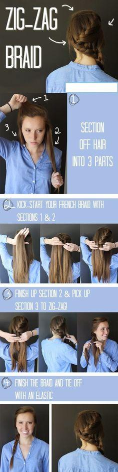 The Zig-Zag Braid - Hair Tutorial