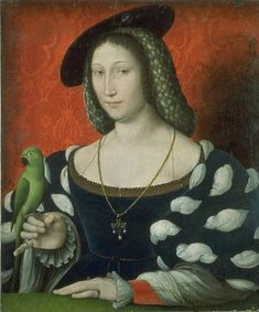 Marguerite d'Angouleme,Queen of Navarre (1492-1549) daughter of Charles Count of Angouleme from the House of Valois-Angouleme and Louise of Savoy,c. 1530 by Jean Clouet