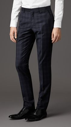 Burberry London Slim Fit Virgin Wool Trousers