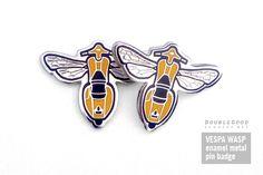 Vespa Wasp Pin Badges - DoubleGood