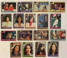 1977 Charlie's Angels Topps Trading Cards Lot of 17 - Farrah Fawcett, Jaclyn Smith, Kate Jackson