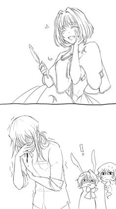 "Vincent Cuts Ada's Hair ||| Pandora Hearts Fan Art by surfacage on Tumblr [Inspired by Retrace 97 ""I Am""]"