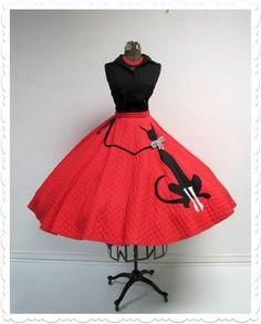 Black Cat 50's circle skirt