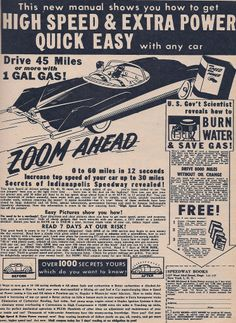 Where is this car now that gas prices have gone thru the roof?   Car AD  c 1951  | Flickr - Photo Sharing!