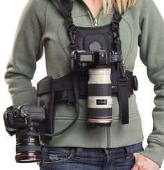 Cotton Carrier 2 Camera Vest, camera vests for women, two camera harness