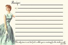 Retro girls recipe card | Bubblegum Sass