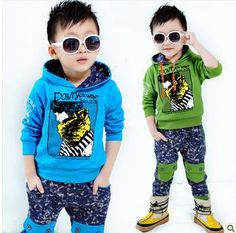 FREE SHIPPING 2013 Fashion New Children Boy Sport Sets  shirt pants  baby  wear Kids clothing Kids clothes suit C1088 15e804ccc