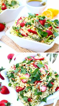 Strawberry Orzo Salad ♥ looks so delicious!