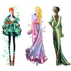 Desfile de moda Disney ❤ liked on Polyvore featuring disney