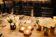 Glamorous black and blush wedding reception.  #reception #decor