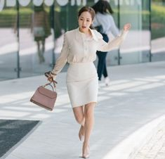 Korean Fashion Trends, Korean Street Fashion, Korea Fashion, Japan Fashion, India Fashion, Girl Fashion, Young Work Outfit, Park Min Young, Office Looks