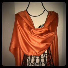 Pashmina Scarf/Wrap  - Burnt Orange This wrap is super soft, made of 100% Bamboo Rayon. So versatile - dress it up, wrap around your waist, drape of your bag... Pashmina Accessories Scarves & Wraps