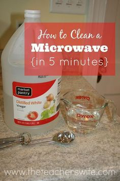 HOW TO CLEAN A MICROWAVE IN 5 MINUTES. I had no idea that cleaning my microwave could be this easy!
