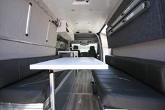threaded rod and screwed them into the L track fittings Van Conversion Build, Van Conversion Interior, Camper Van Conversion Diy, Diy Van Camper, Camper Beds, Campervan Bed, Campervan Interior, Campervan Ideas, Build A Platform Bed