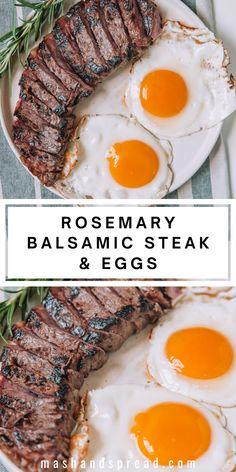 Breakfast Steak And Eggs, Grill Breakfast, Perfect Breakfast, Breakfast Ideas, Healthy Breakfast Recipes, Easy Healthy Recipes, Fall Recipes, Healthy Breakfasts, Healthy Meals