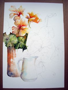 LOTS OF GREAT TUTORIALS HERE BY YVONNE HARRY Watercolour Painting, Watercolor Flowers, Painting & Drawing, Watercolor Tips, Watercolours, Watercolour Tutorials, Watercolor Techniques, Painting Lessons, Art Lessons