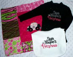 State Trooper's Princess - Baby Girl Gift Set