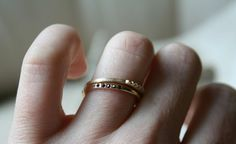 Mackenzie gold ring w/ black diamonds