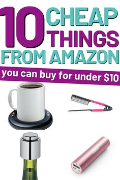 Best things to buy on amazon under $10 for teens, women or teen girls. These strange and useful amazon finds are all $10 and under. Perfect for some frugal retail therapy or a gift idea for people who are hard to shop for. Unique Gifts For Him, Cute Gifts, Cool Things To Buy, Good Things, Stuff To Buy, Romantic Anniversary, Retail Therapy, Frugal, Knowing You