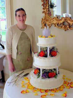3 tier wedding cakes with pillars | Tier Pillar Wedding Cake ââ'à ...