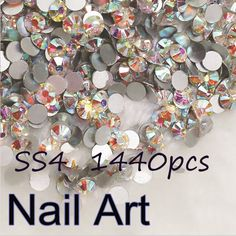 1.10$ (Buy here: http://alipromo.com/redirect/product/olggsvsyvirrjo72hvdqvl2ak2td7iz7/32747807488/en ) Promation! Glass Rhinestones 1440pcs SS4 Crystal  AB Nail Art Rhinestones For Nails Decoration Cell Phone And DIY Design for just 1.10$