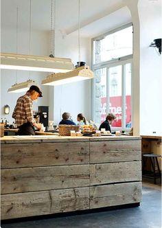Creative Interieur, Barn, Roastery, Mitte, and Berlin image ideas & inspiration on Designspiration Coffee Shop Design, Cafe Design, Store Design, House Design, Interior Design, Wood Design, Decoration Restaurant, Deco Restaurant, Restaurant Design