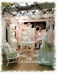 Pergola & Sheer Curtain Display Booth via A Gathering Place (photo only)